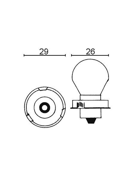 Glödlampa P26 6v 15w