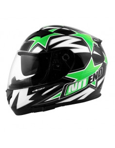 NoEnd Star Green mopedhjälm