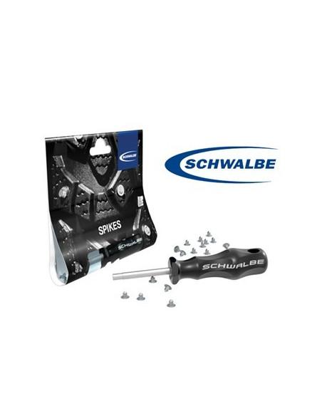 Schwalbe Dubbsats (50st ståldubb) med verktyg