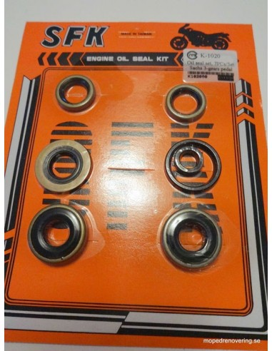 Packboxsats 3 växlad pedal Sachs