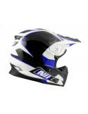 Mopedhjälm NoEnd Defcon White/Blue