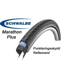 Marathon Plus -14 47-622, 28x1.75 Svart/Reflex