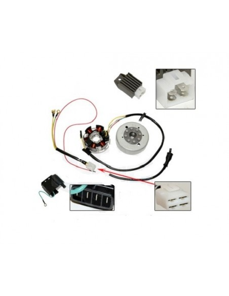 Tändsystem Kreidler/Zundapp/Sachs Elextronic 6V 85W Kokusan