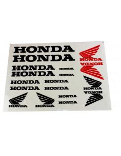 Dekalsats Honda svart med en röd dekal
