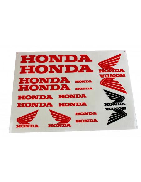 Dekalsats Honda röd med en svart dekal