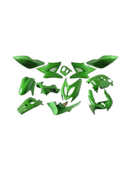 Kåpset Yamaha Aerox,  12 delar (Kawasakigrön)