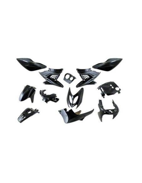 Kåpset Yamaha Aerox, 12 delar (Black Metal)