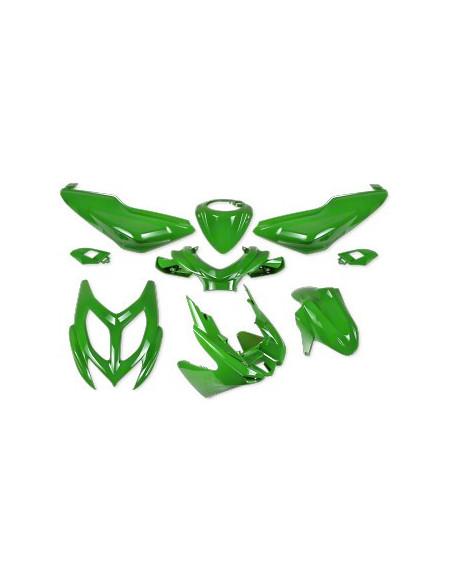 Kåpset Yamaha Aerox 2013,  9 delar - Kawasakigrön