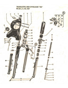 Framgaffel lås NITBRICKA 3,5mm