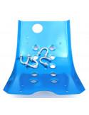 Hasplåt, Aluminium blå