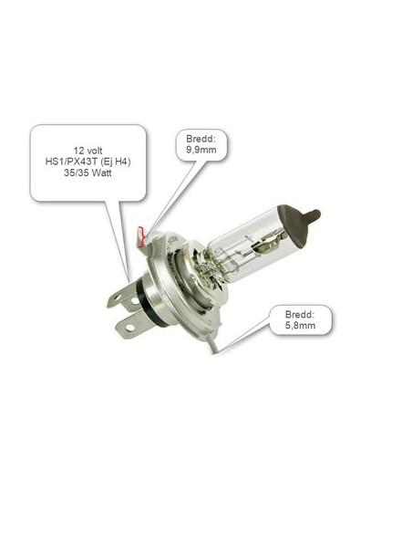 Glödlampa HS1/PX43T 12V 35/35W