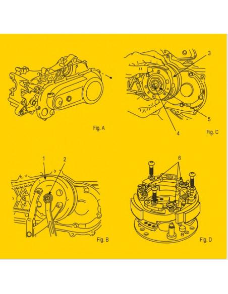 Kopplingsfjädrar, Malossi Racingset originalkoppling Ø 105