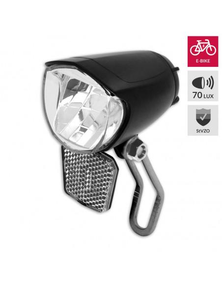 Framlampa E-bike 70 lux