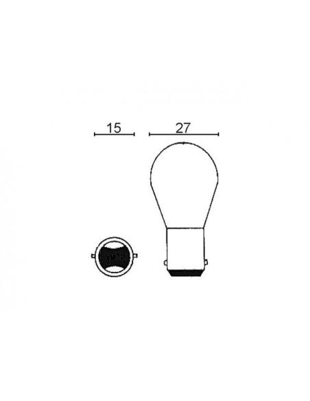 Glödlampa BAY15D 6V 21/5W
