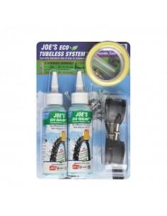 Tubeless Kit JOE´S Eco Sealant, racerventil, 17-19mm fälgar