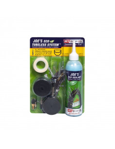 Tubeless Kit JOES Eco Sealant, racerventil, 19-25mm fälgar