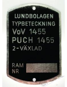 Typskylt VoV 1455 2-vxl.