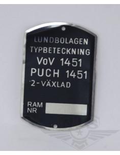 Typskylt VoV 1451 VS50L