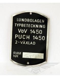 Typskylt VoV 1450 MS50 & MS50L