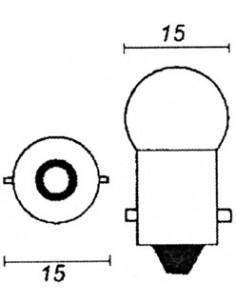 12V 10W orange glödlampa
