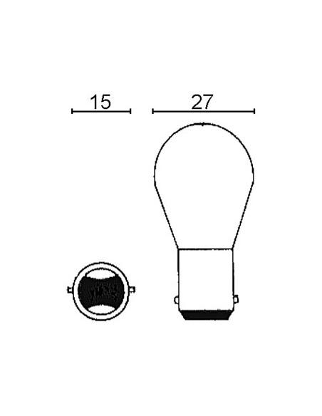 Glödlampa 12V 15/15W