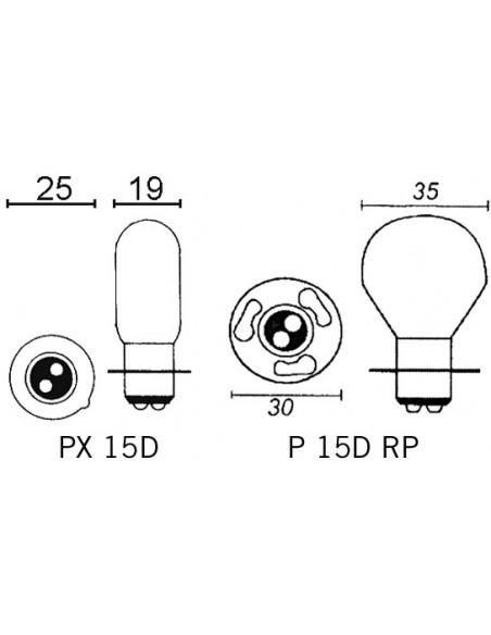 Glödlampa PX 15D 12V