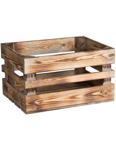 Trälåda för frampakethållare, 40x30x23 cm