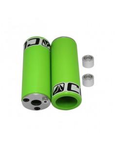 Pegs i super härdad nylon, gröna, par, Adapter ingår, för både 3/8 och 14mm